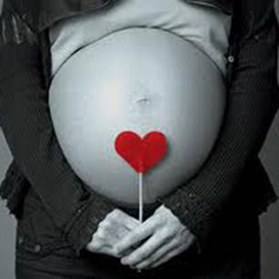Healthy pregnancy, belly, heart