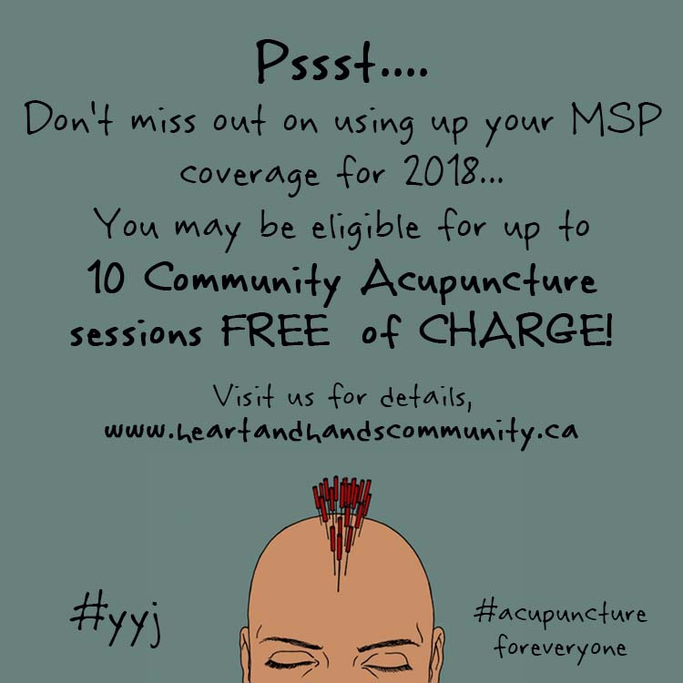 Direct MSP Billing! Did you say FREE ACUPUNCTURE??