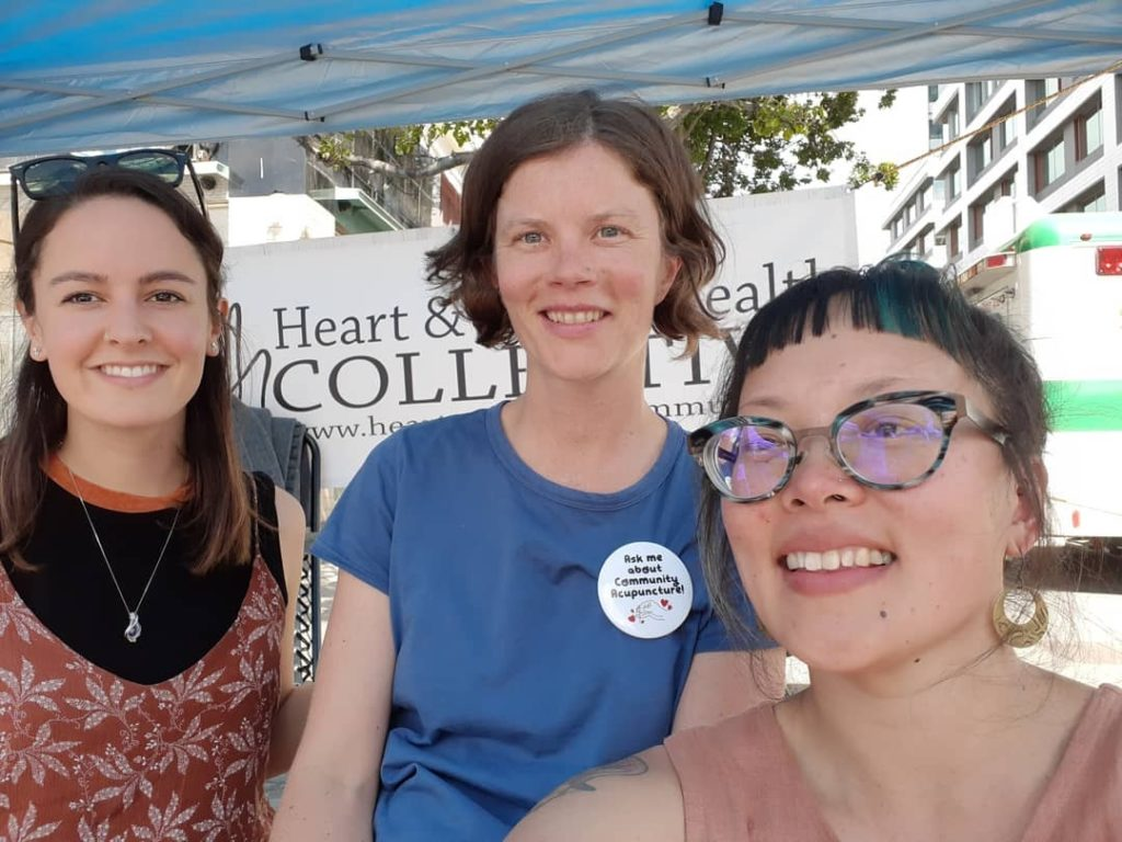 Veronica Palmer-Jones, Susan Shields and Christina Chan smiling for a selfie at Car Free Day YYJ, 2018