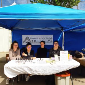 The H&H Acupunk team at the North Park neighbourhood festival.