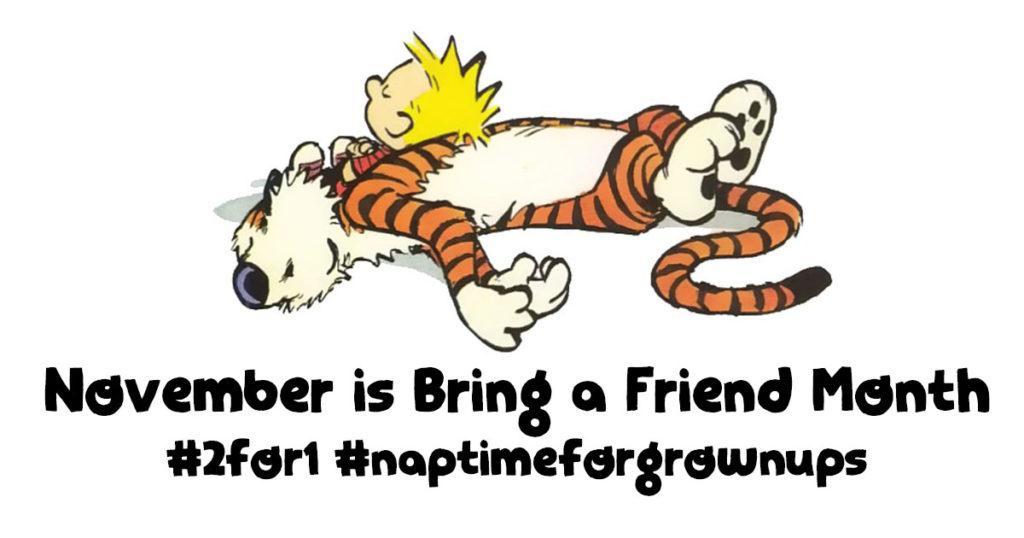 November Bring a Friend 2:1 banner