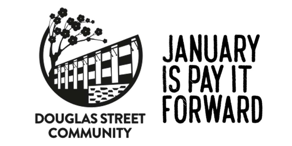 Douglas St Community, January is Pay it Forward month for PHS