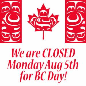 BC ay 2019 closure with an indigenous Canada flag