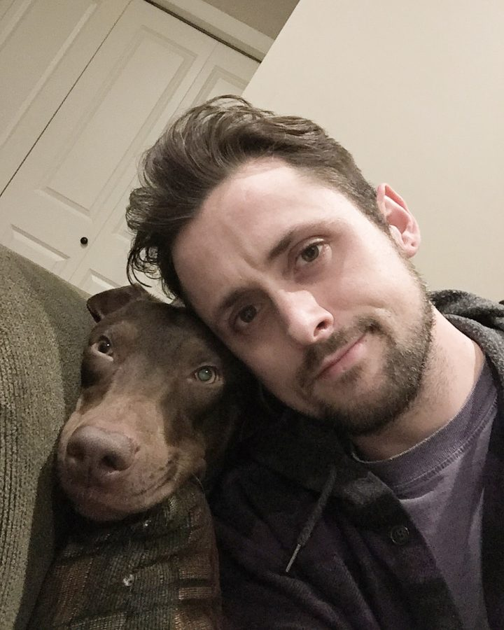 Kevin and his dog