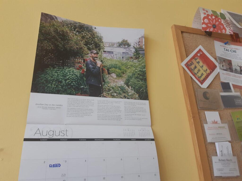 August 2020 Hope in Shadows calendar